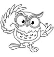 outlined owl with glasses vector image