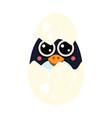 penguin bain an egg vector image vector image