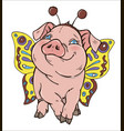 pig in fancy dress vector image