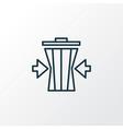 reduce waste icon line symbol premium quality vector image