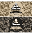 restaurant cafe menu template design sketch food vector image