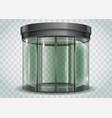 round glass doors vector image vector image