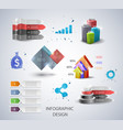 set design elements for infographic vector image vector image