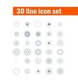 set of thirty angular abstract icons