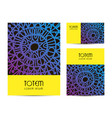 set of tribal style cards identity modern vector image vector image