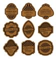 Set of vintage brown labels vector | Price: 1 Credit (USD $1)