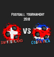 soccer game switzerland vs costa rica vector image vector image