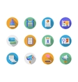 Social media marketing flat color icons vector image