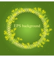 Spring background with frame from sprig of mimosa vector image