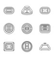 stadia icons set outline style vector image