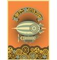 Steampunk dirigible vector image vector image