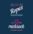 summer high rope park camp backpack rucksack vector image vector image