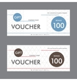 template design gift voucher with abstract vector image vector image