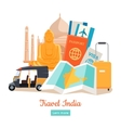Travel India Conceptual Poster vector image vector image