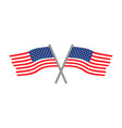 usa flags logo vector image