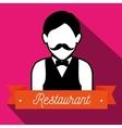 waiter serving restaurant icon vector image