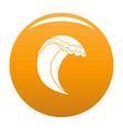 wave icon orange vector image vector image