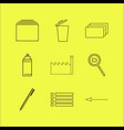 web linear icon set simple outline icons vector image vector image