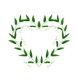White Solomons Seal Flowers in A Heart Shape vector image vector image