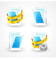 Windows plastic measurement element icons set