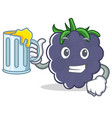 with juice blackberry character cartoon style vector image