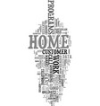 work at home phone jobs text word cloud concept vector image vector image