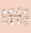 zero waste environmental go green concept design vector image vector image