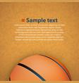 basketball on the floor vector image
