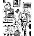 home party with dancing drinking young people vector image