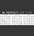 90 outline mini concept infographic symbol icons vector image vector image