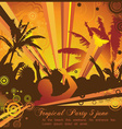 A hot summer party flyer vector image