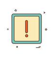 alert icon vector image vector image