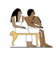 ancient egypt family vector image vector image