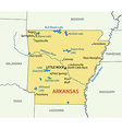 Arkansas - map vector image
