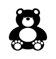bear teddy toy isolated icon vector image vector image