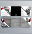 brochure design 668 vector image vector image