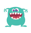 cartoon happy monster with big mouth vector image vector image
