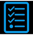 Checklist icon from Business Bicolor Set vector image