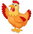 Chicken hen waving hand vector image vector image