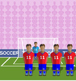 Chile Soccer Club Penalty on a Stadium vector image vector image