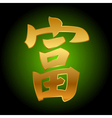 chinese character of good fortune Feng Shui vector image vector image
