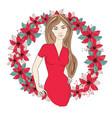 christmas icon color social media vector image