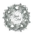 christmas postcard sketch vector image vector image