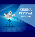 cinema festival movie time invitation poster vector image