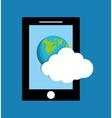 Cloud computing techonlogy vector image vector image