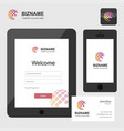 company app login interface design in tablet and vector image