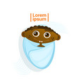 cute african american baby boy swaddled toddler vector image vector image