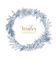 decorative wreath made of branches and cones vector image vector image