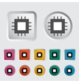 Electronic chip icon 2 vector image
