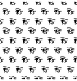 Eye of Horus seamless pattern vector image